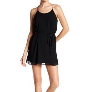 Cinch waist babydoll little black dress